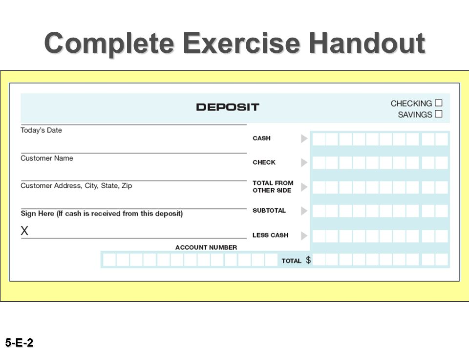 Complete Exercise Handout