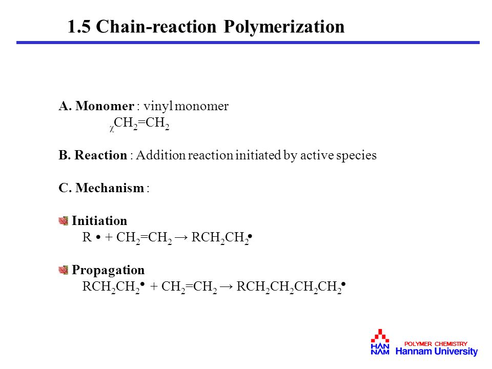 1.5 Chain-reaction Polymerization