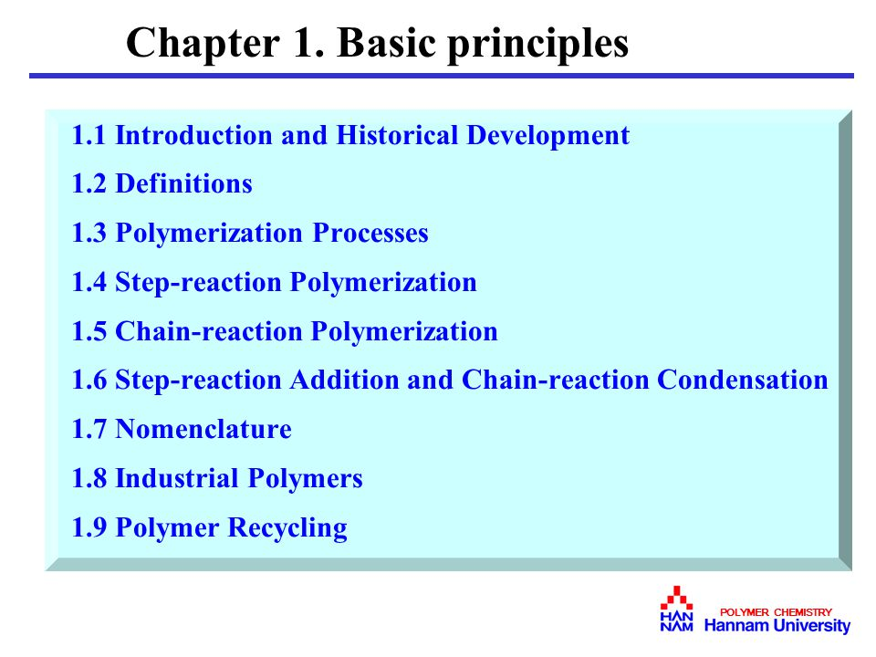 Chapter 1. Basic principles