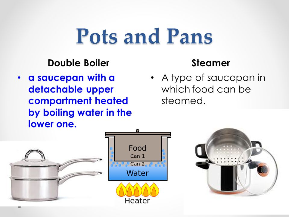 Pots and Pans Double Boiler Steamer