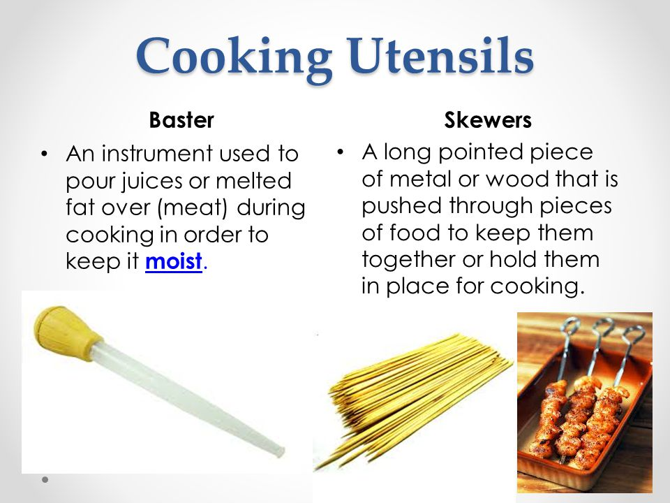 Cooking Utensils Baster Skewers