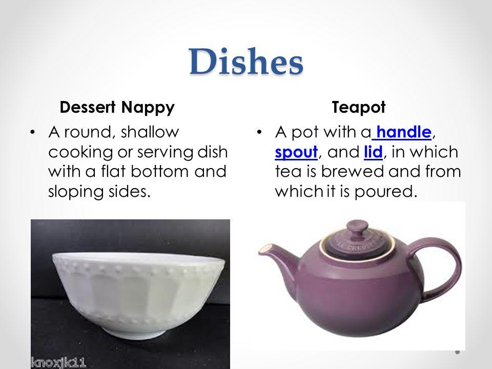 Dishes Dessert Nappy Teapot