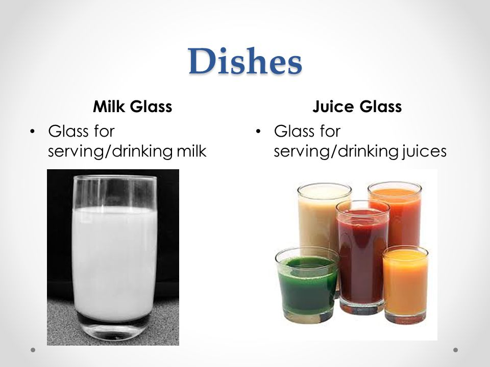 Dishes Milk Glass Juice Glass Glass for serving/drinking milk