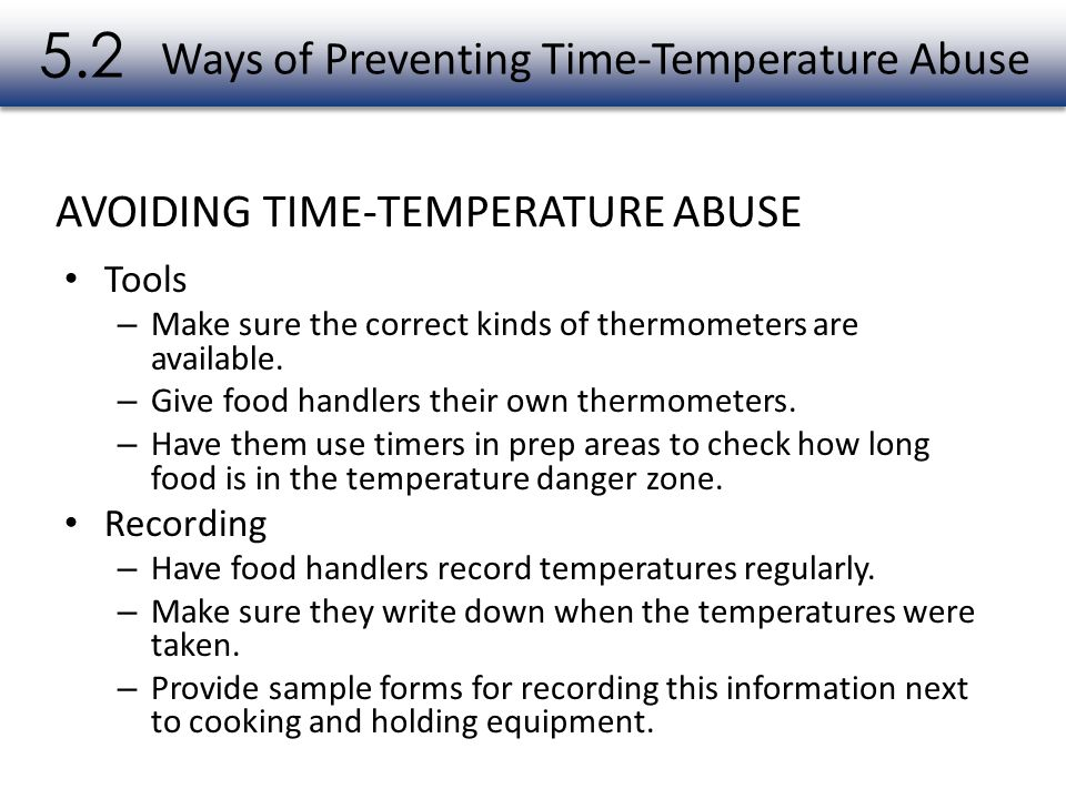 Ways of Preventing Time-Temperature Abuse