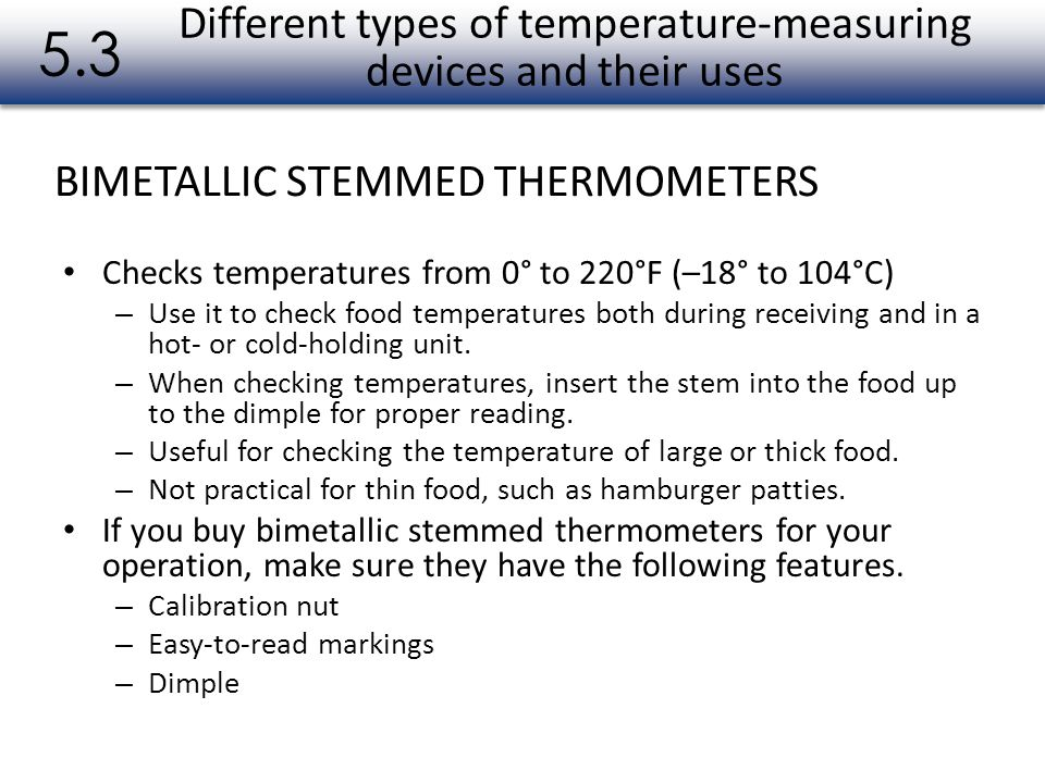 Different types of temperature-measuring devices and their uses