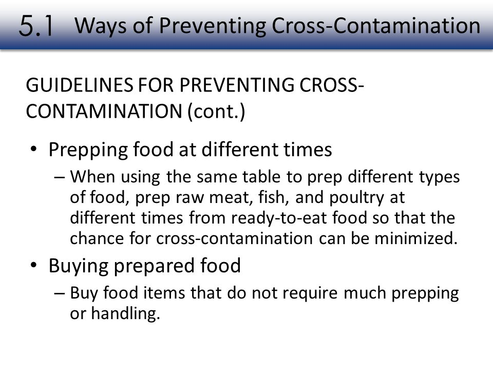 Ways of Preventing Cross-Contamination