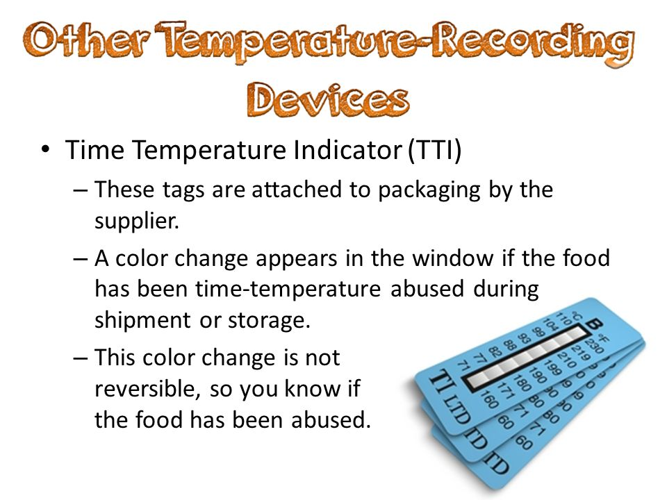 Time Temperature Indicator (TTI)