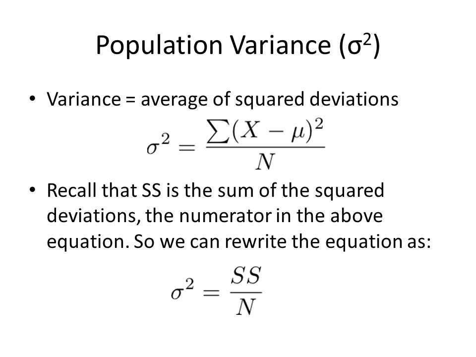 Population Variance (σ2)