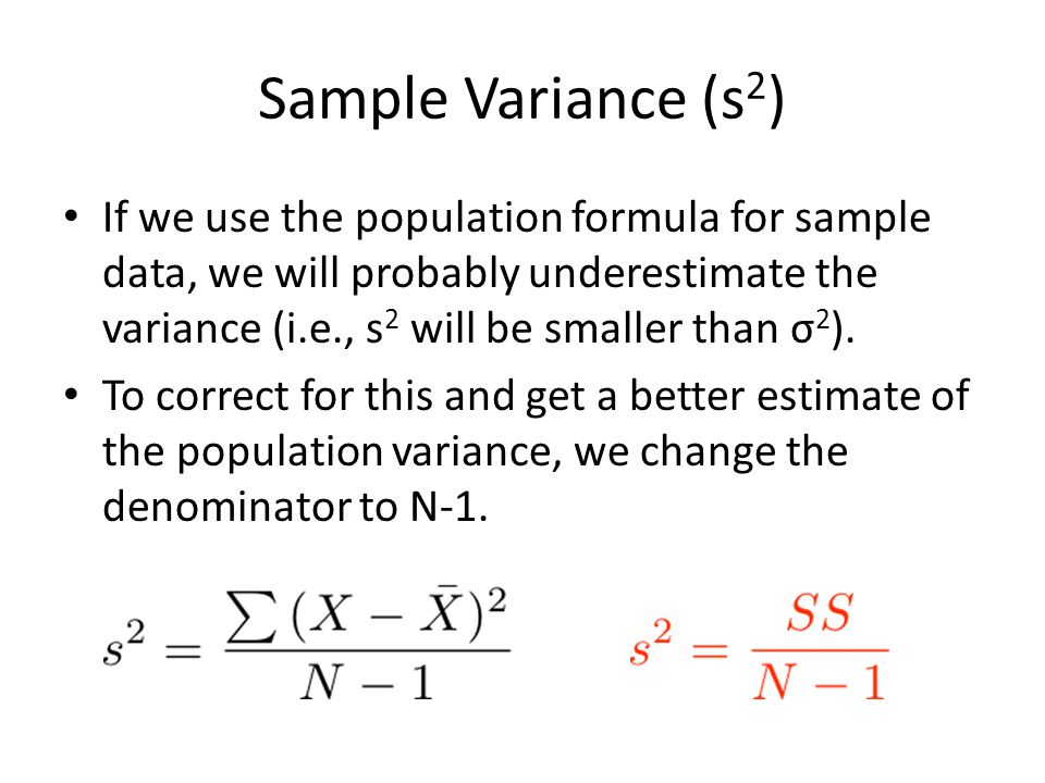Sample Variance (s2)