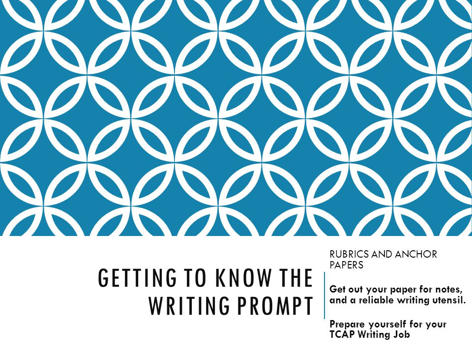 Getting to know the writing prompt