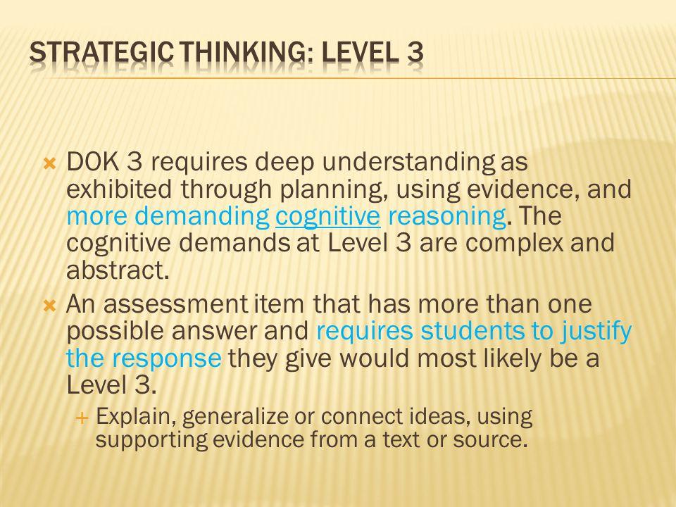 Strategic Thinking: Level 3