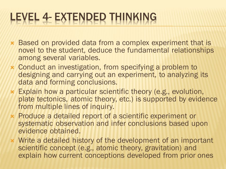 Level 4- Extended Thinking