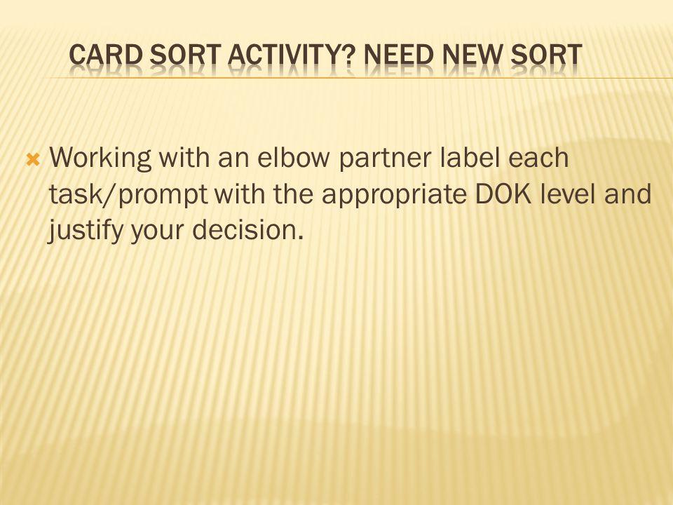 Card Sort Activity NEED NEW SORT
