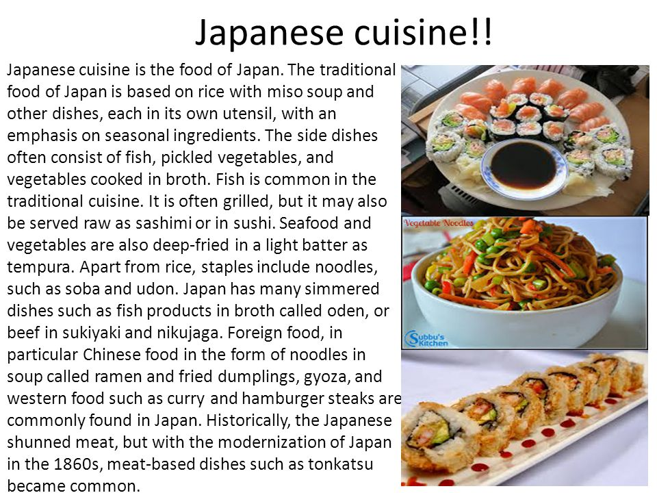 Japanese cuisine!!