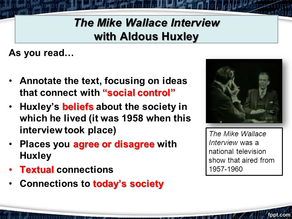 The Mike Wallace Interview with Aldous Huxley