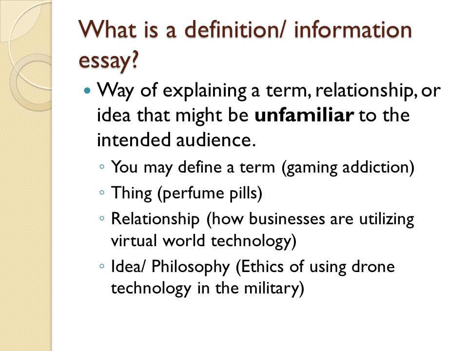 informative definition essays ppt  3 what is a definition information essay