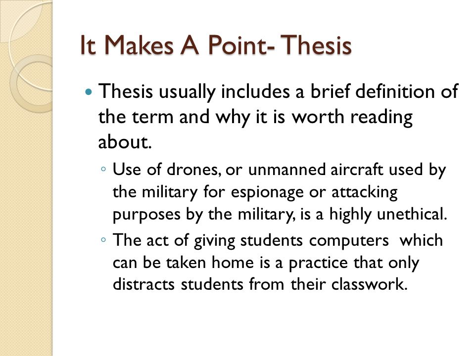 implied thesis statement definition Creating a thesis statement  statement sometimes an implied thesis will work better for this particular style however, at times.