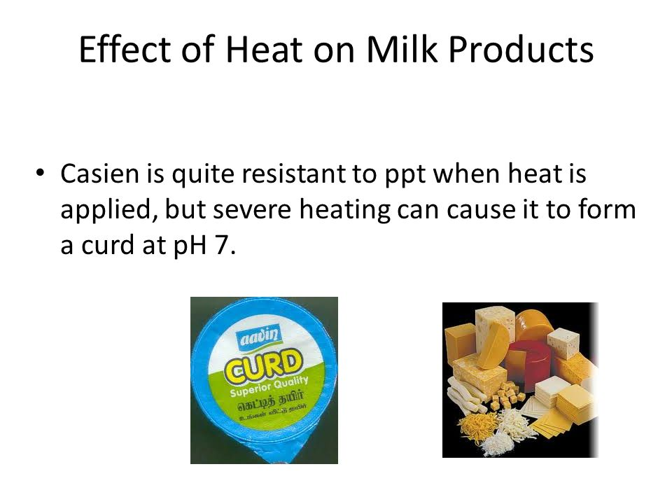 Effect of Heat on Milk Products