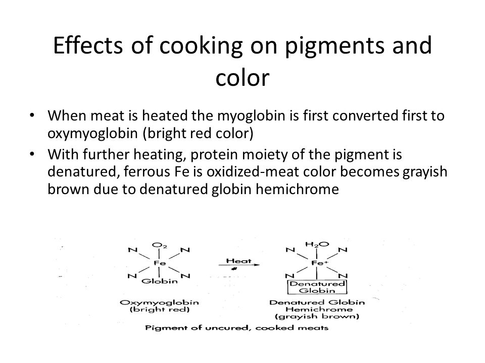 Effects of cooking on pigments and color