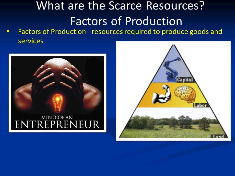 What are the Scarce Resources Factors of Production