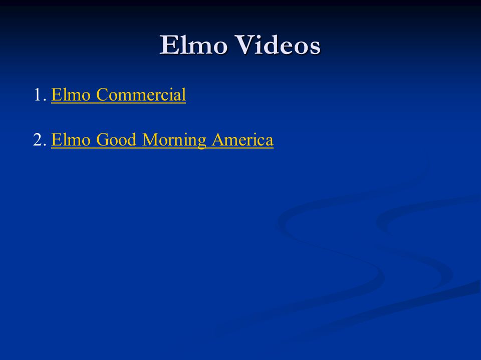 Elmo Videos Elmo Commercial Elmo Good Morning America