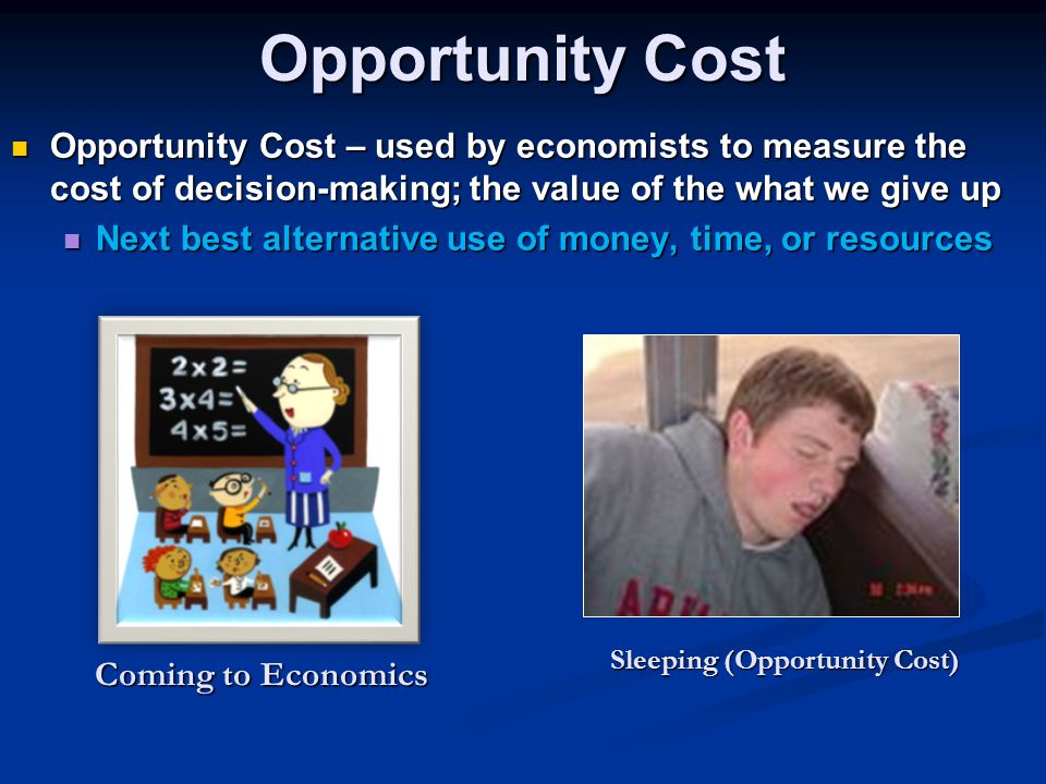 Sleeping (Opportunity Cost)