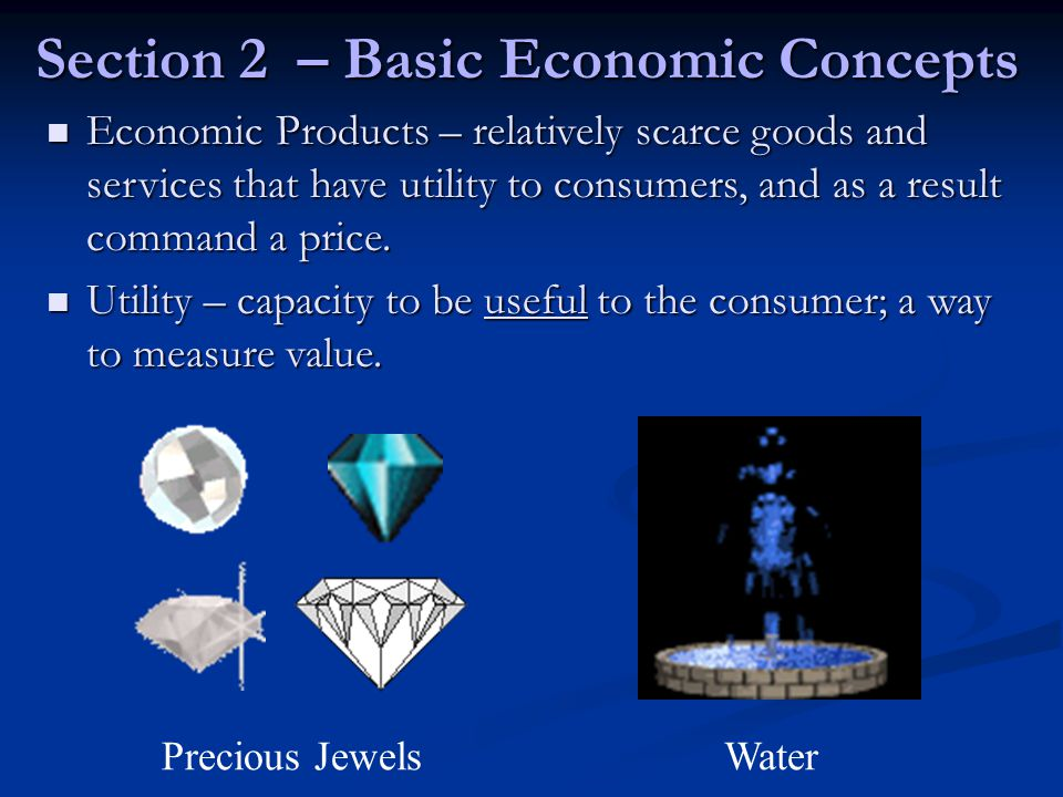 Section 2 – Basic Economic Concepts