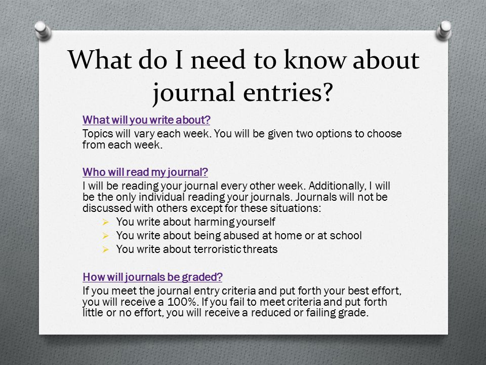 What do I need to know about journal entries