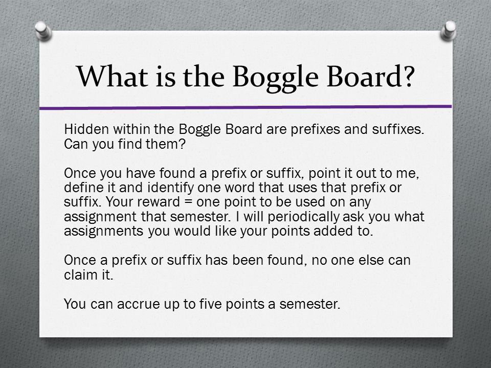 What is the Boggle Board