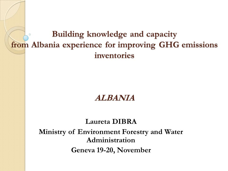 Ministry of Environment Forestry and Water Administration