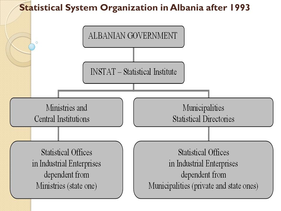 Statistical System Organization in Albania after 1993