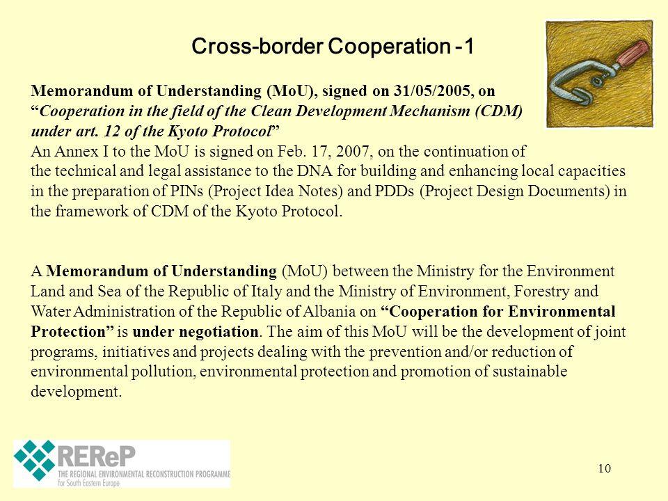 Cross-border Cooperation -1