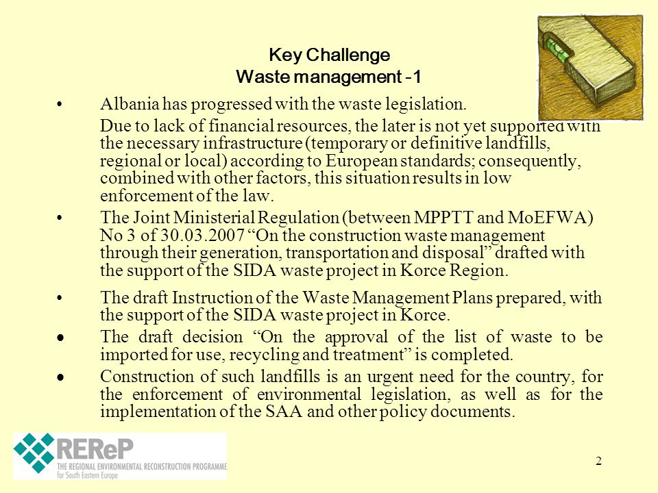 Key Challenge Waste management -1