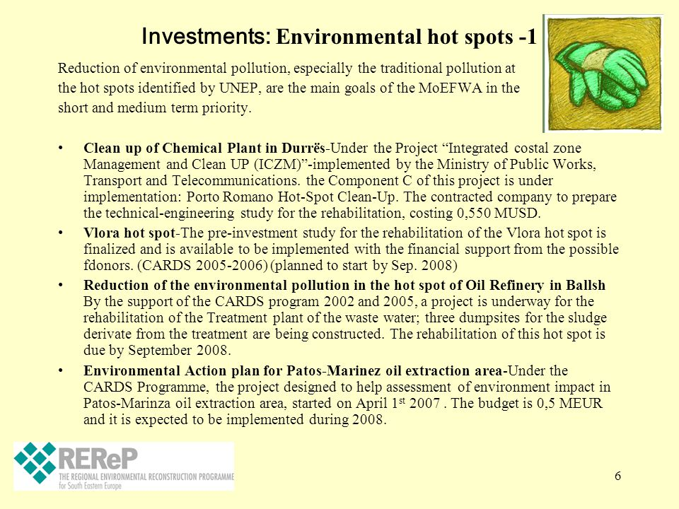 Investments: Environmental hot spots -1