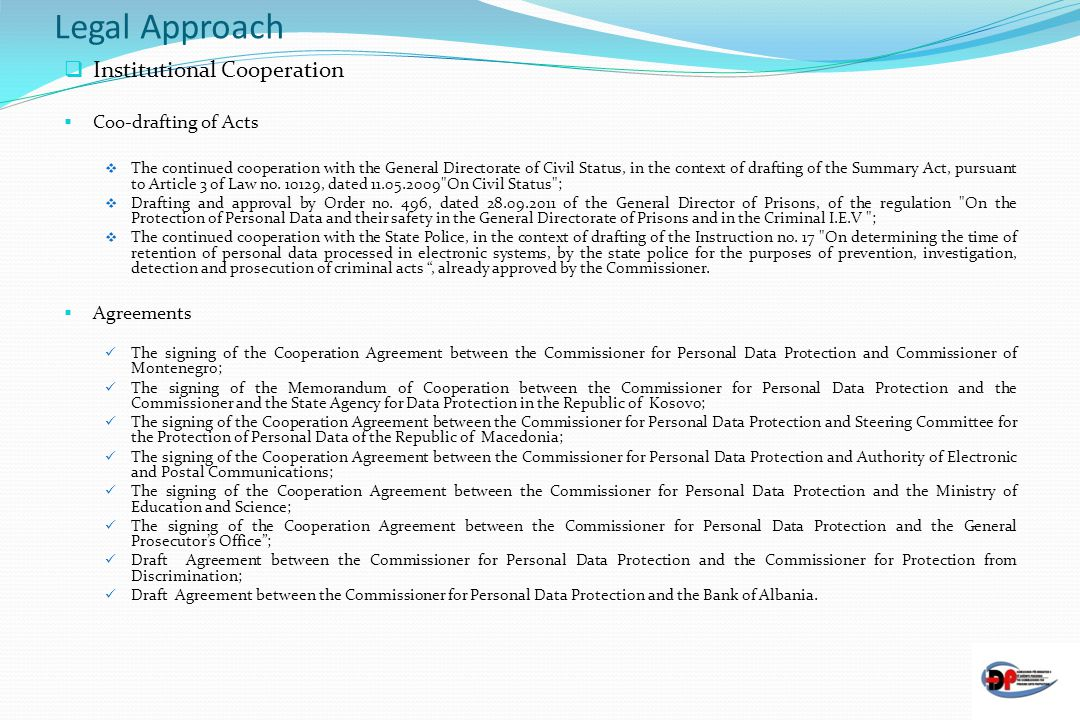 Legal Approach Institutional Cooperation Coo-drafting of Acts