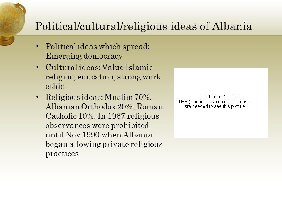 Political/cultural/religious ideas of Albania