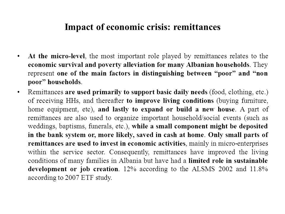 Impact of economic crisis: remittances