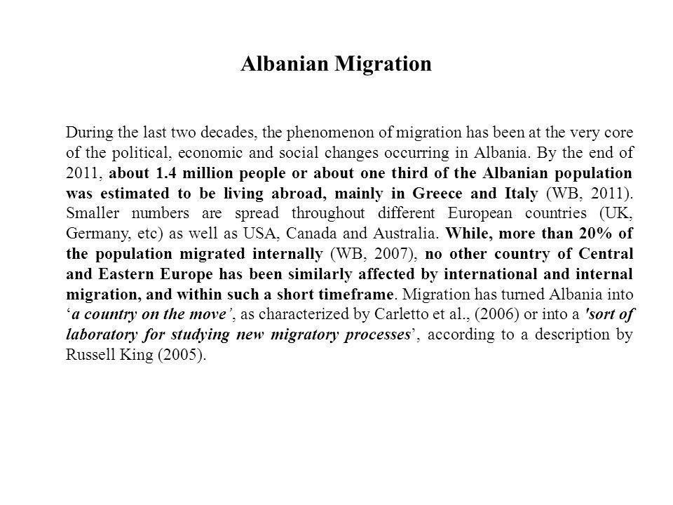 Albanian Migration