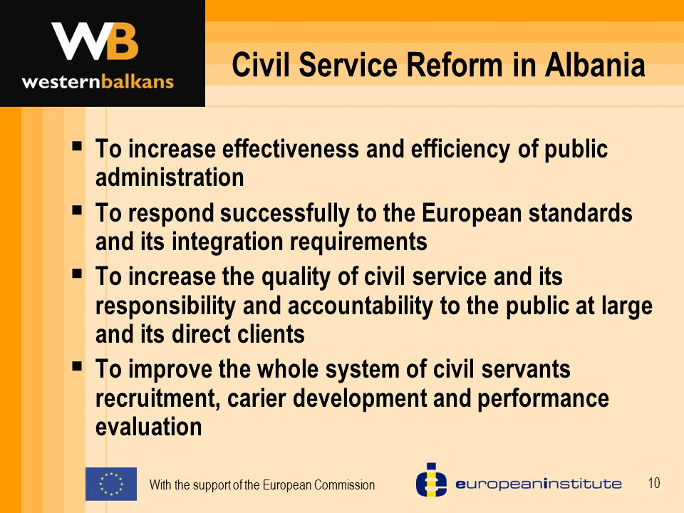 Civil Service Reform in Albania