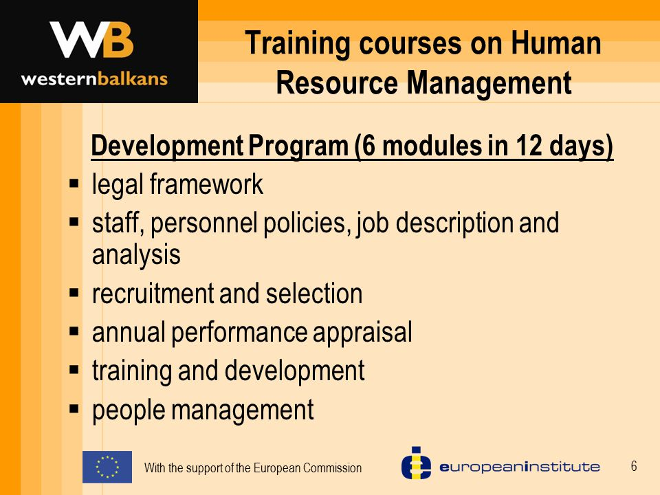 Training courses on Human Resource Management