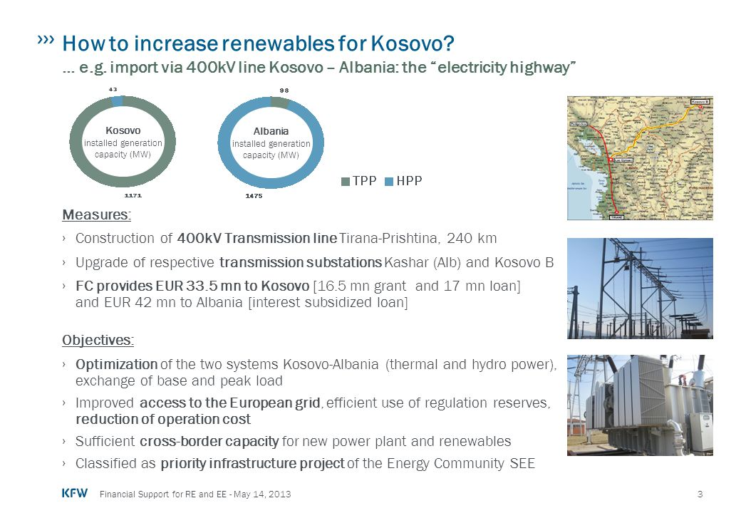 How to increase renewables for Kosovo. … e. g