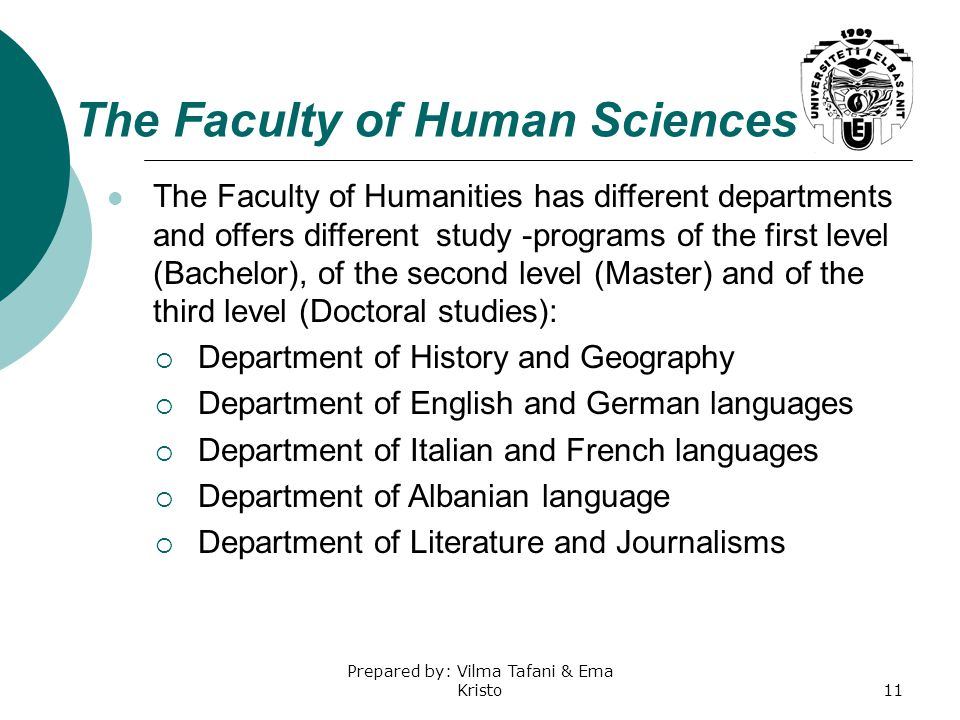 The Faculty of Human Sciences