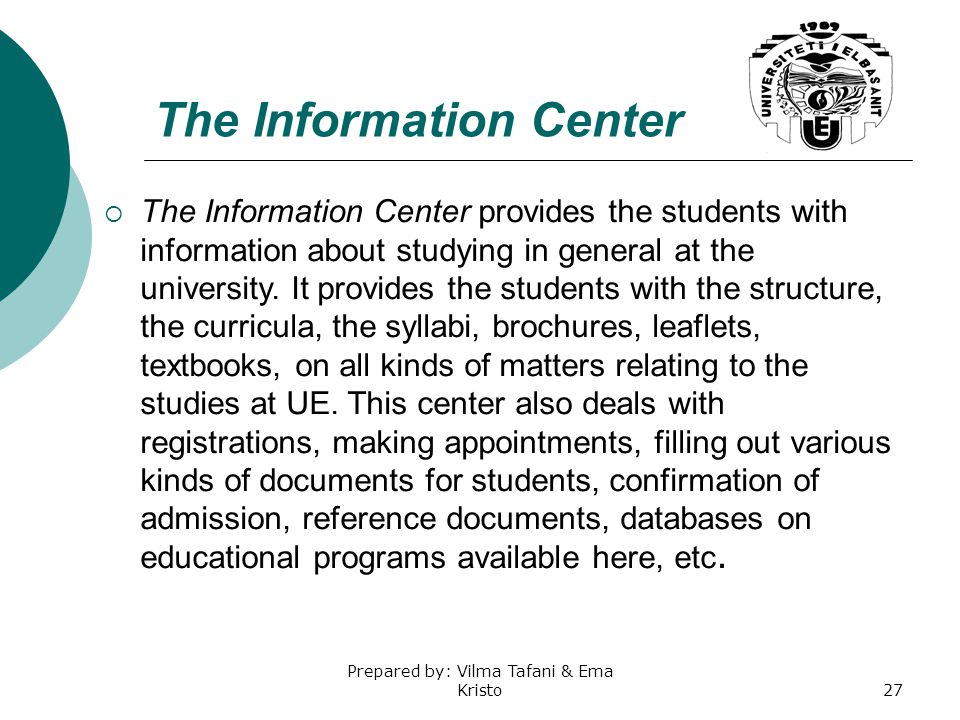 The Information Center