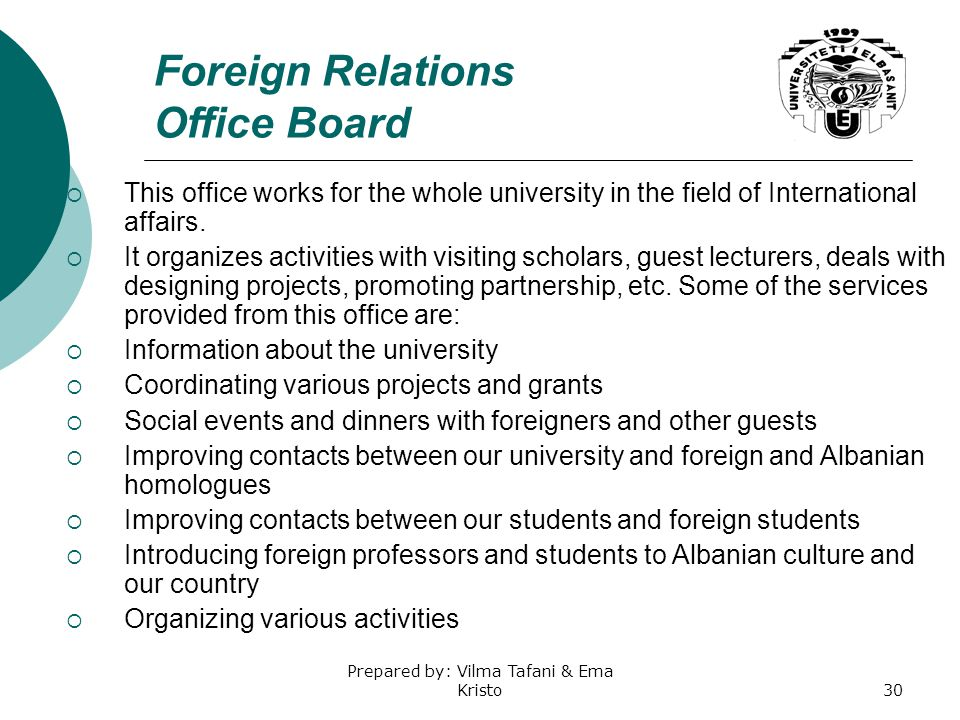 Foreign Relations Office Board