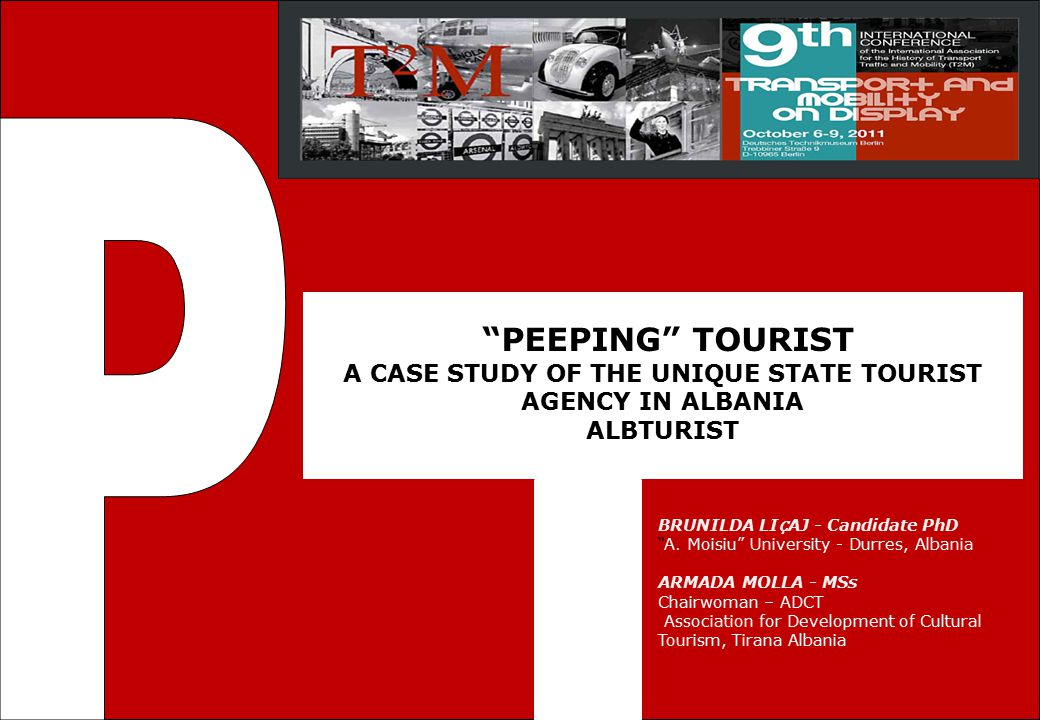P The 1th International Conference. for Graduate Research in Tourism, Hospitality and Leisure. 1 October 2010 -Shkoder, Albania.