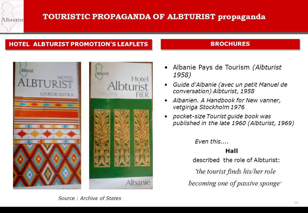 TOURISTIC PROPAGANDA OF ALBTURIST propaganda