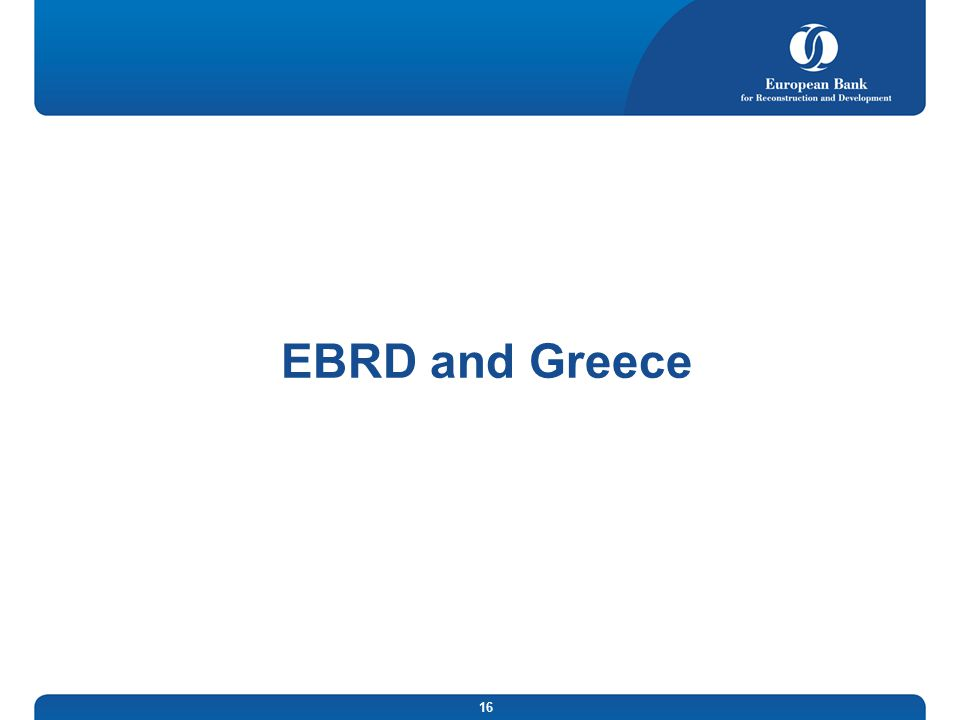 EBRD and Greece