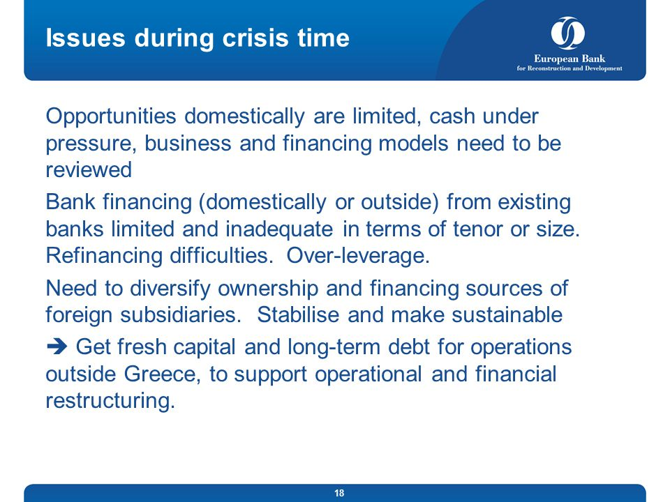 Issues during crisis time