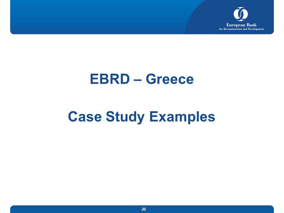 EBRD – Greece Case Study Examples