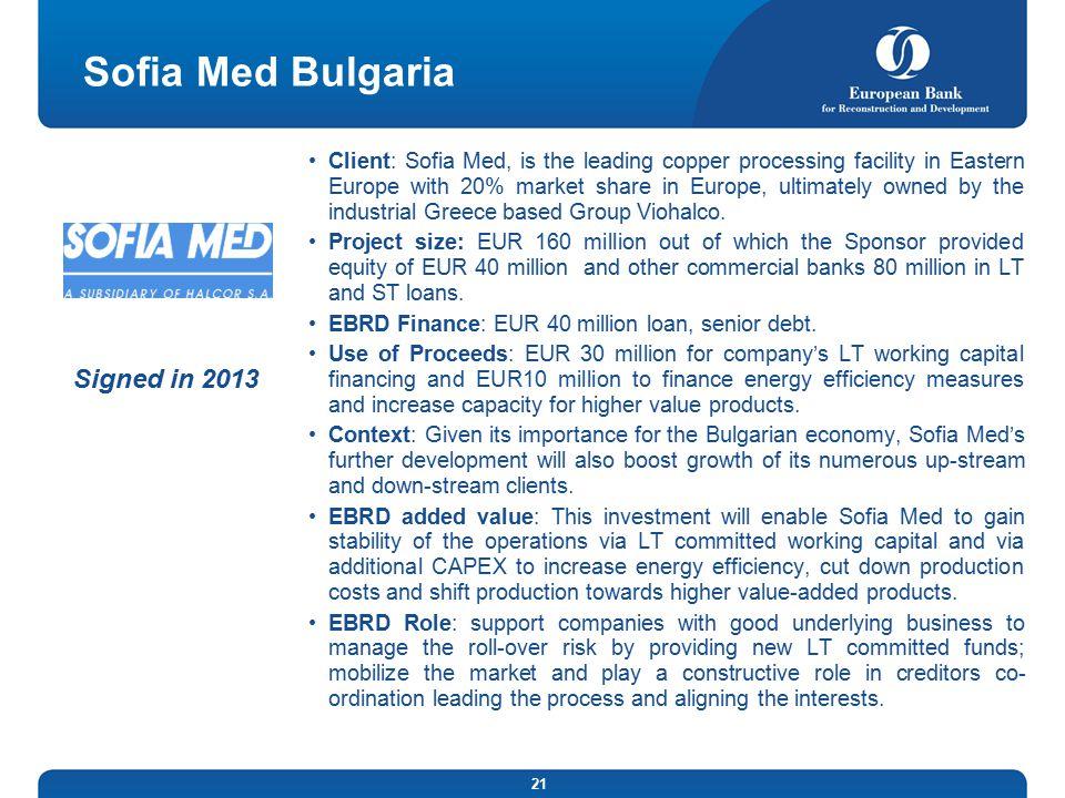 Sofia Med Bulgaria Signed in 2013
